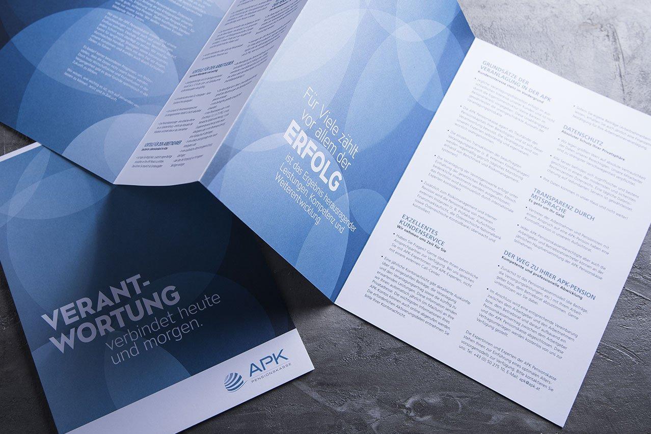 upart folder für APK Pensionskassse