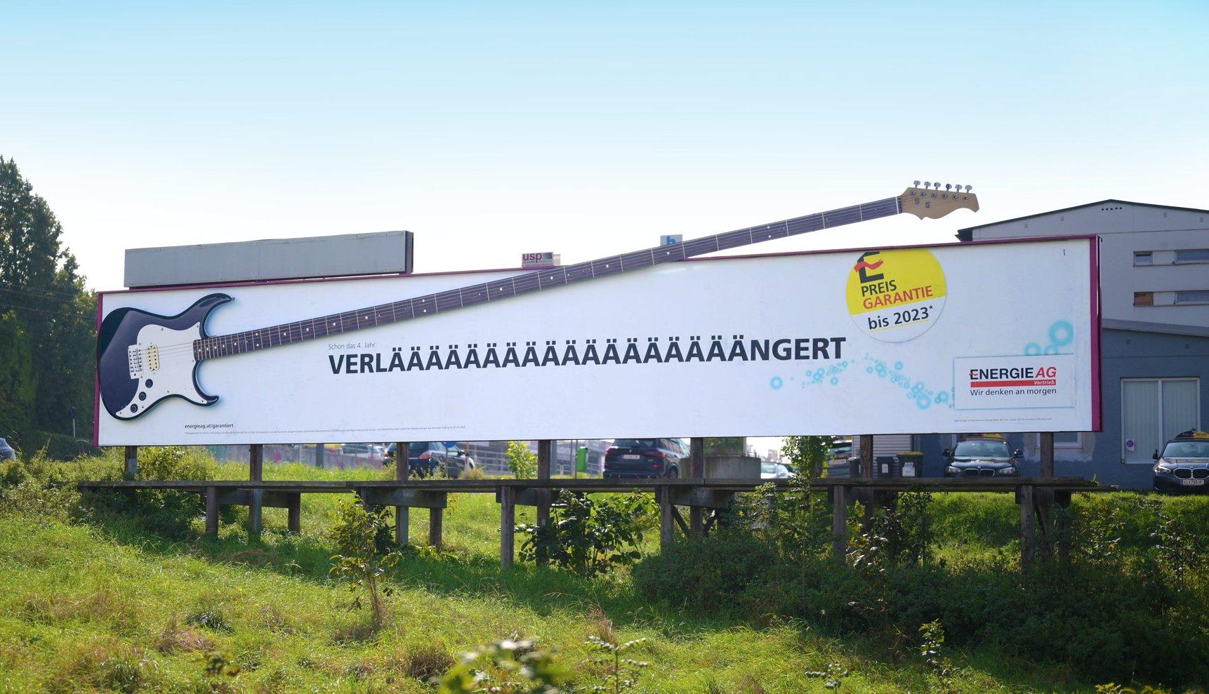 Energie AG - Preisgarantie Verlängerung - Plakat