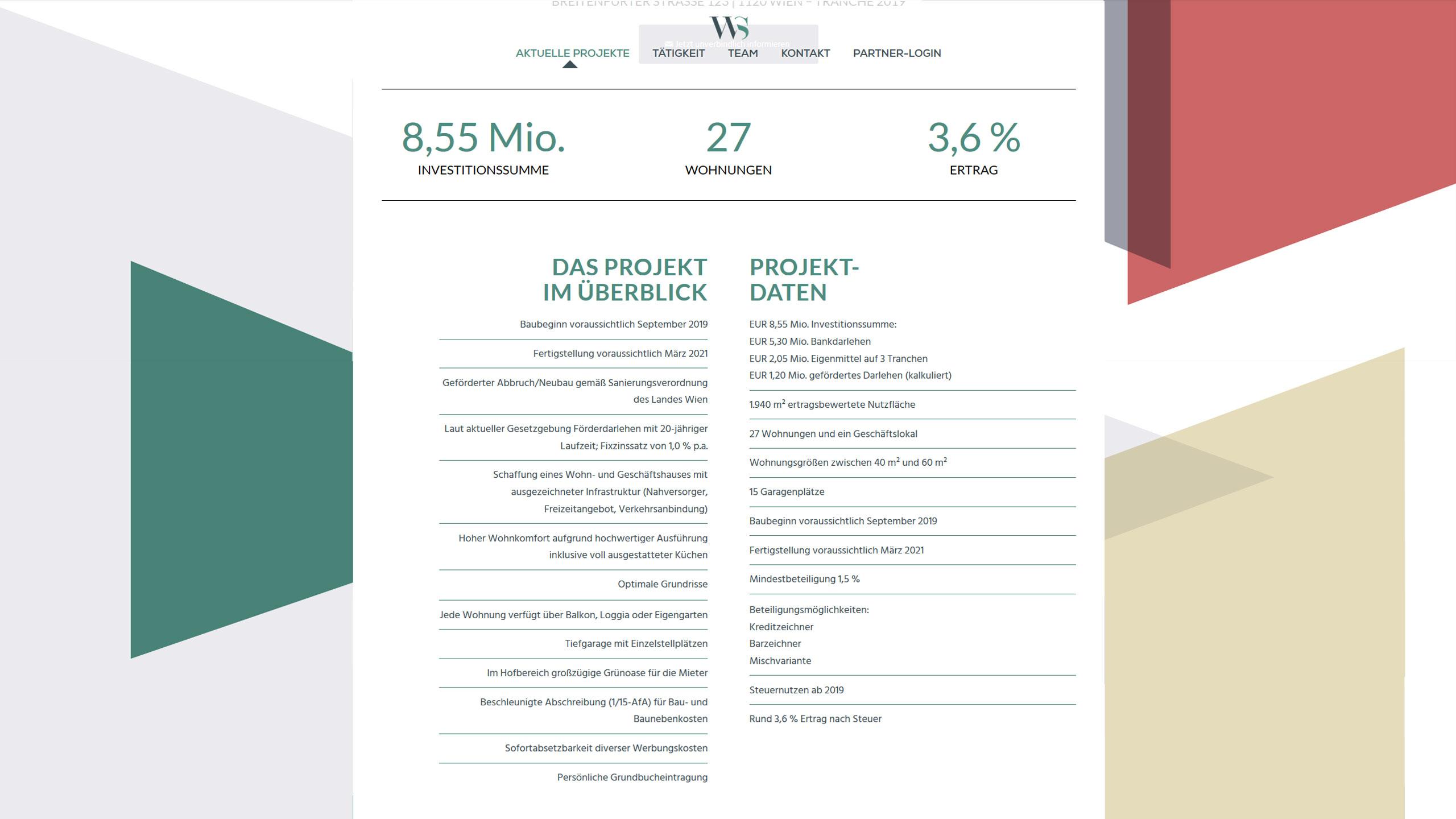 Upart Referenze für Wertsecure - Webdesign