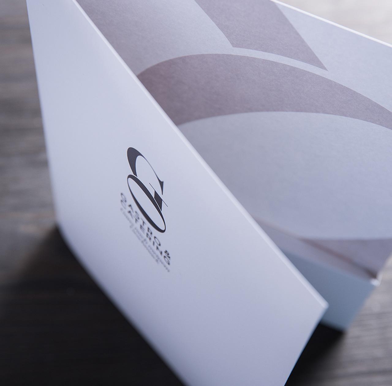 Upart Referenz - Branding für Go Gastro fluegelmappe