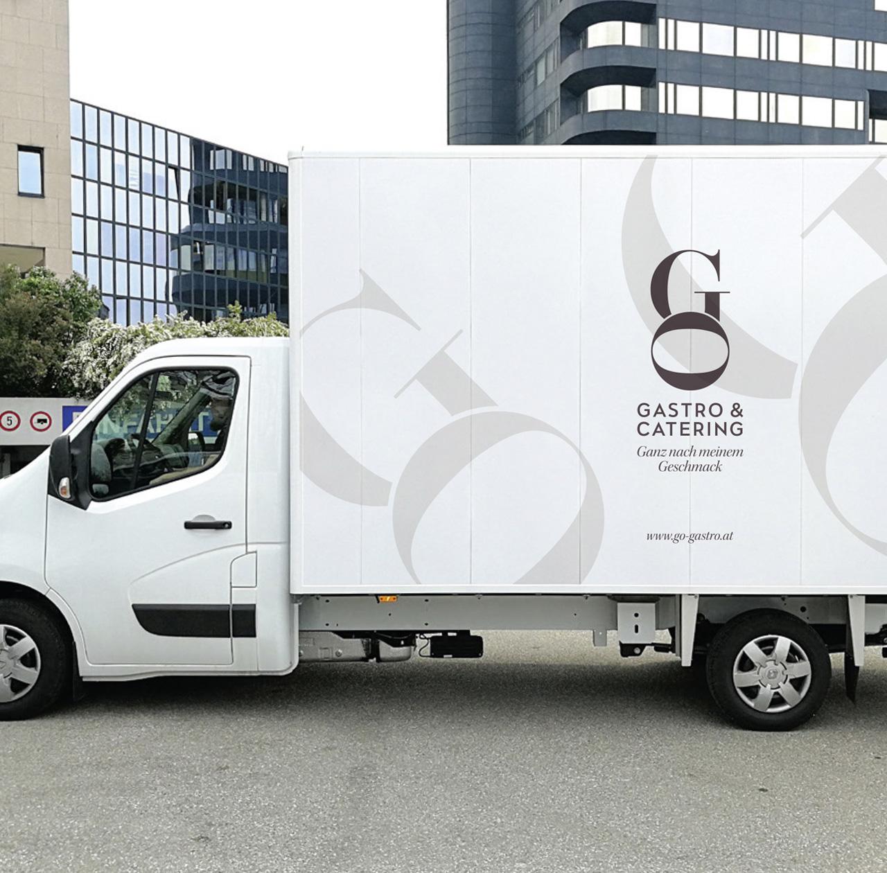 Upart Referenz - Branding für Go Gastro fuhrpark