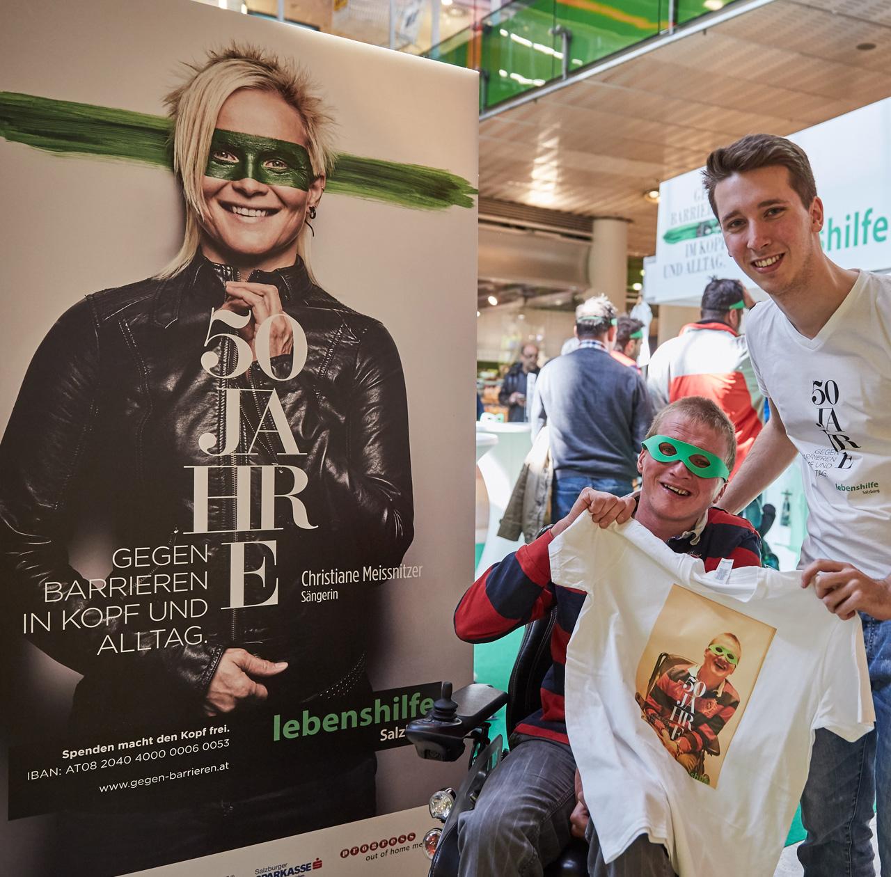 upart Referenz für die Lebenshilfe Salzburg - 50 Jahre - Messestand