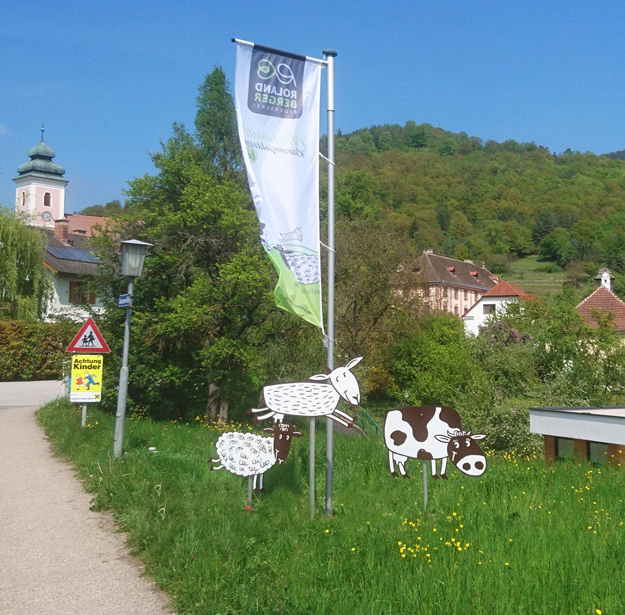 upart Referenz für Biokäserei Roland Berger aus der Wachau - Fahne