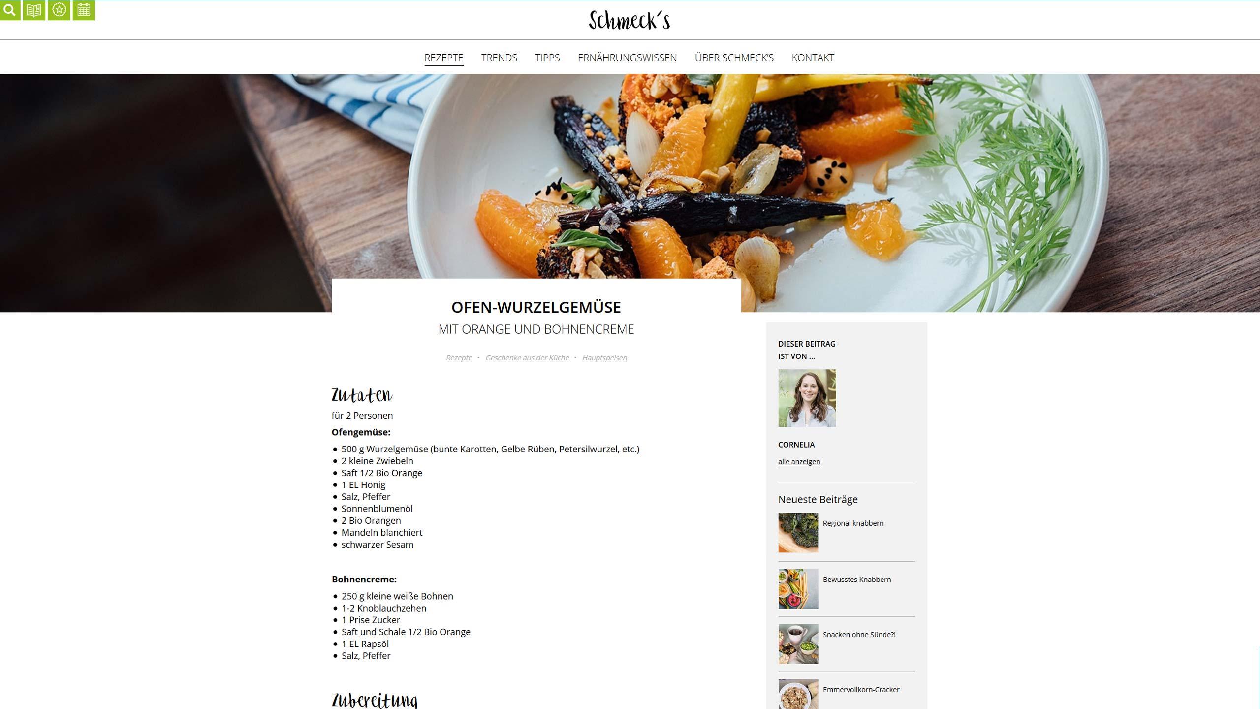 upart Referenz für die Webseite Schmeck's OÖ - Max Hiegelsberger