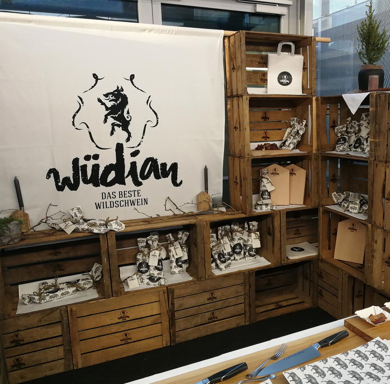 upart Referenz für wüdian Wildschweinspeck - Verkaufstand