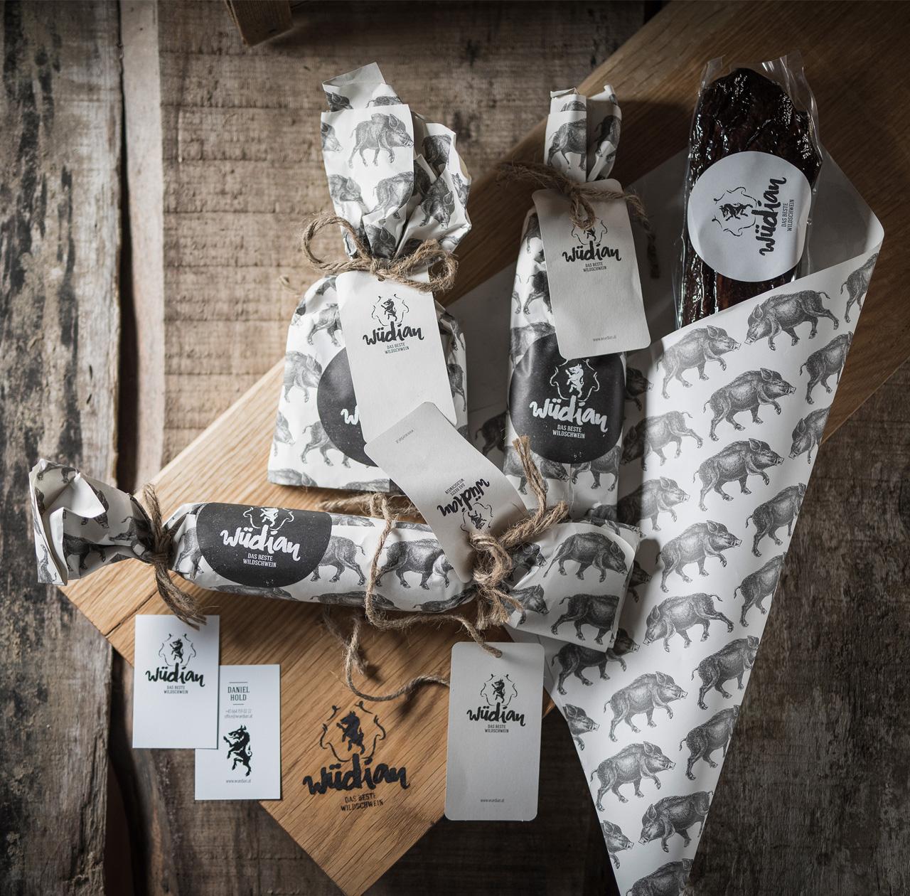 upart Referenz für wüdian Wildschweinspeck - Verpackungsdesign